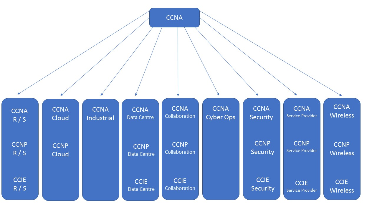 Cisco certification paths