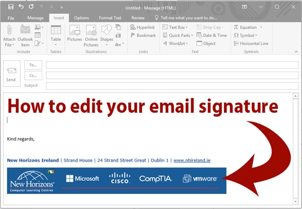 Adding Signatures to your Outlook Emails