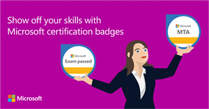 Show your skills with Microsoft badges