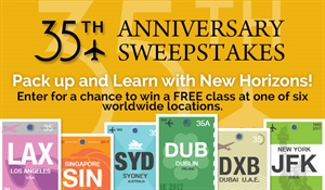 Win a free course that includes roundtrip airfare, lodging, and $500 cash.
