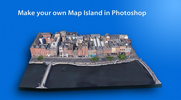 Make a Map Island in Photoshop