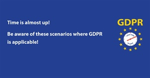 Scenarios where GDPR is applicable