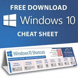 Windows 10 Keyboard Shortcuts Cheat Sheet