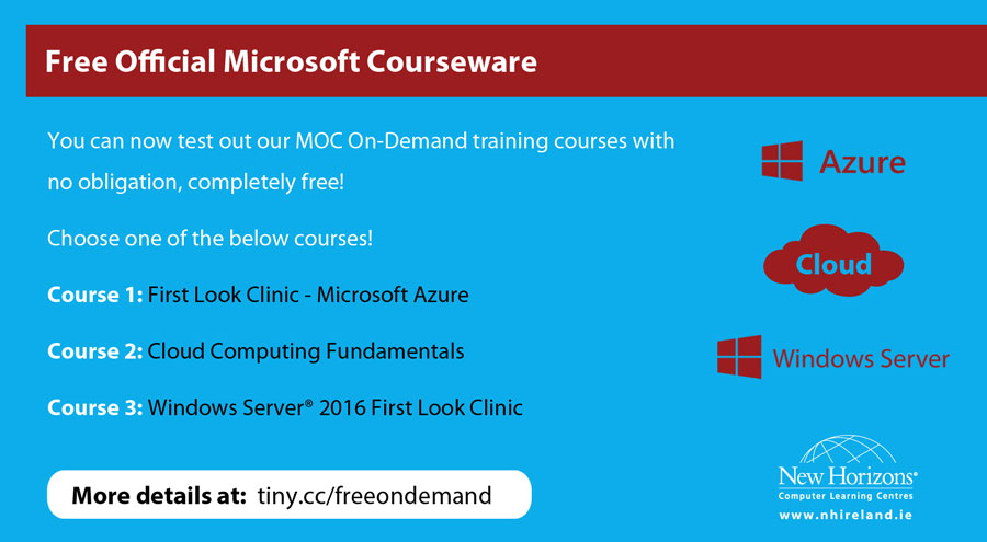 Free official Microsoft Courseware