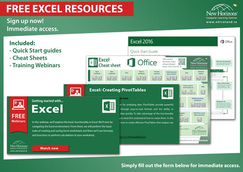 free EXcel learning resources