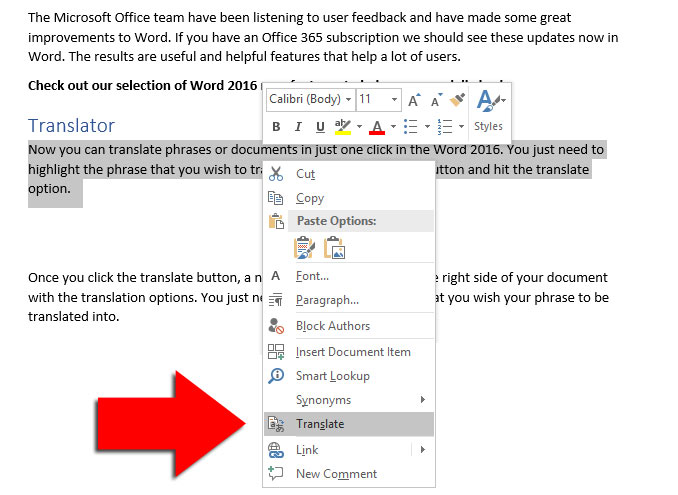 microsoft word 2016 new features