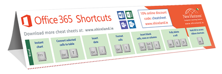 Office 365 Cheat sheet