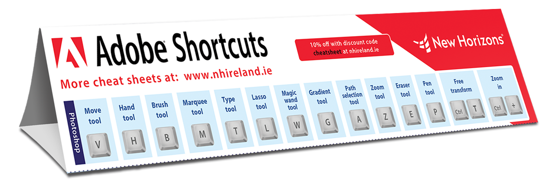 Adobe suite keyboard shortcuts
