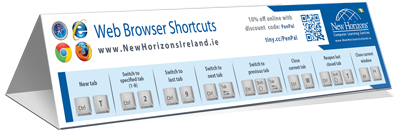 Web Browser cheat sheet