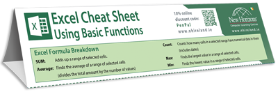 Excel Formula Keyboard shortcut cheat sheet