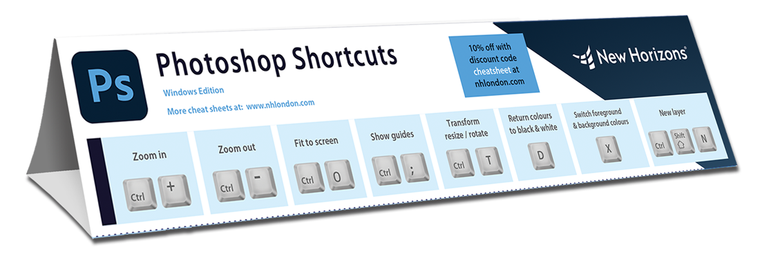 Photoshop keyboard shortcut cheat sheet