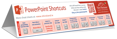 PowerPoint keyboard shortcut cheat sheet