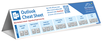 Outlook keyboard shortcut cheat sheet preview