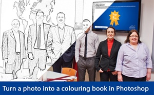 From photo to colouring book in 2 easy steps - Photoshop