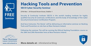 Security Seminar - Introduction to Hacking Tools and Prevention - 27th Nov