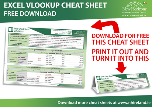 Our Best Excel Cheat Sheets Ireland