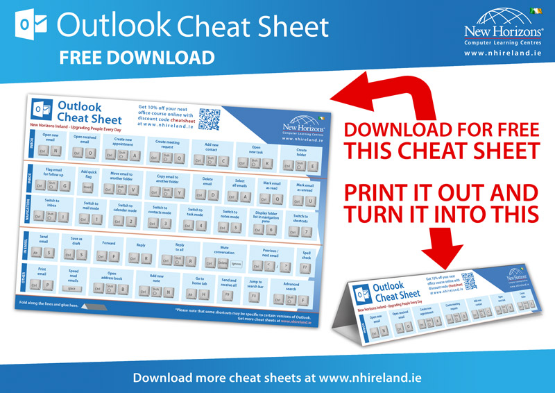 Outlook Keyboard Shortcut Cheat Sheet Ireland