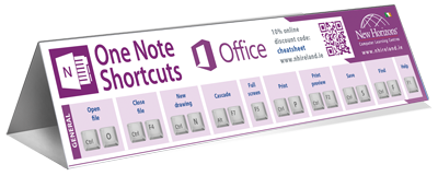 OneNote keyboard shortcut cheat sheet