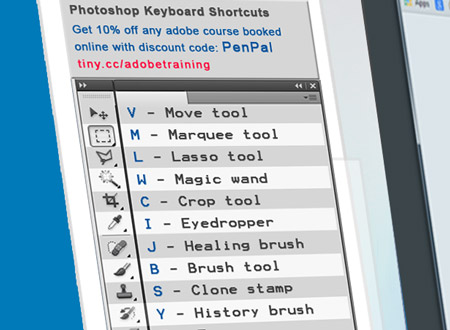Photoshop Toolbar cheat sheet